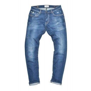 THE.NIM - Herren Jeans - Dylan Man Jeans Slim Fit - Organic Cotton - Organic Blue