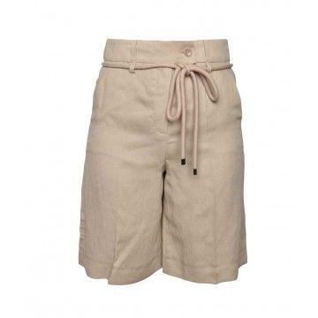 LUISA CERANO - Damen Shorts - High Waist Bermudas - Sand