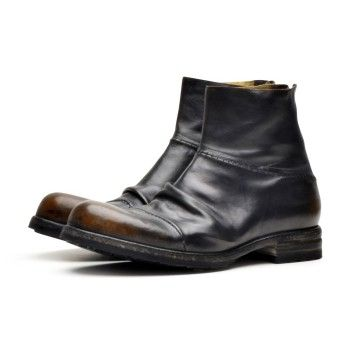SHOTO - Herren Stiefelette - Nevada Washed + Caos - Black