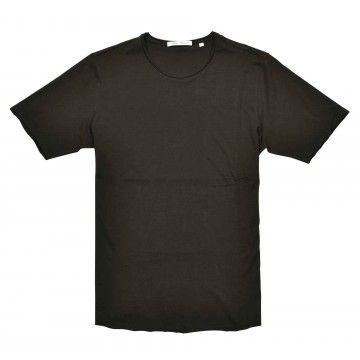 STEFAN BRANDT - Herren T-Shirt - Elia Round Neck Open Edges - Choco