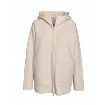 WOOLRICH - Damen Jacke - WS Bonded Fleece Hoodie - White Stone