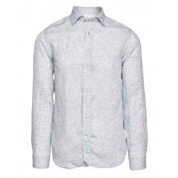 FIL NOIR - Herren Hemd - Leinenhemd Roma - Grey