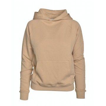 WOOLRICH - Damen Pullover - WS Fleece Hoodie-Feather Beige