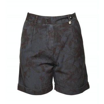 MYTHS - Damen Shorts - Pantalone Corto - Blu Print
