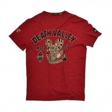 JOHNSON MOTORS - Herren T-Shirt - Death Valley MC - Cherry Red