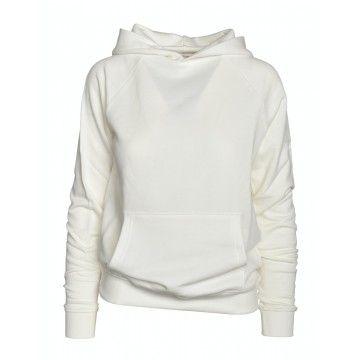 WOOLRICH - Damen Pullover - WS Fleece Hoodie-White