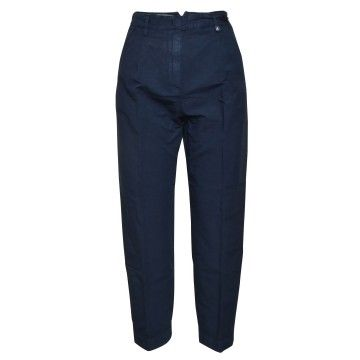 MYTHS - Damen Hose - Cropped Pants - Navy
