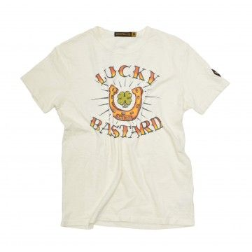 JOHNSON MOTORS - Herren T-Shirt - Lucky Bastard - Yellow Sand