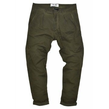 THE NIM - Herren Hose - Chino Pince Man Slim Tapered Fit - Faded Moss - Grün