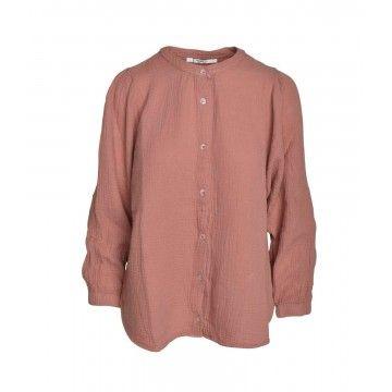 PENN&INK - Damen Bluse - Terracotta