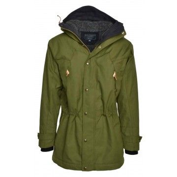 MANIFATTURA CECCARELLI - Herren Jacke - Long Mountain Parka - Light Green