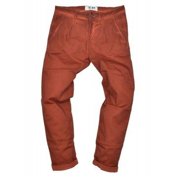 THE NIM - Herren Hose - Chino Pince Man Slim Tapered Fit - Faded Burnt Orange