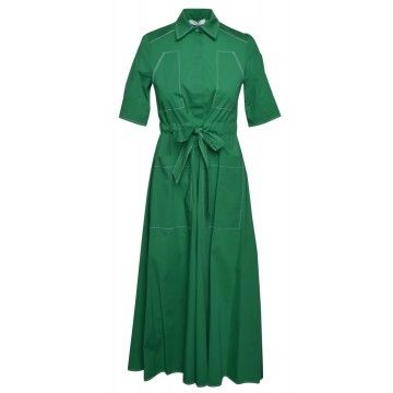 BEATRICE.B - Damen Kleid - Baumwollkleid mit Stickerei - Green