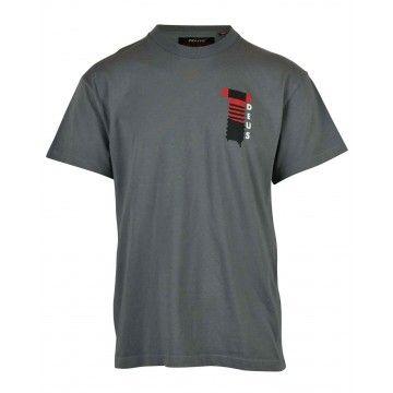 DEUS EX MACHINA - Herren T-Shirt - Naito Biarritz Tee - Smoked Pearl