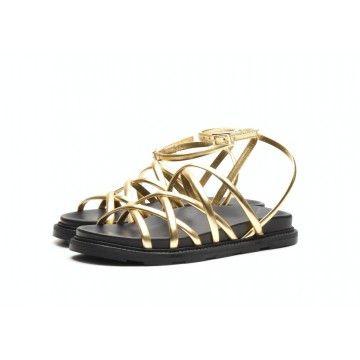 VIC MATIÉ - Damen Sandalen - Sandalo Sand - Gold