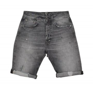 PRPS - Herren Shorts - Chopper KB Denim - Vintage Repair Wash - Grey