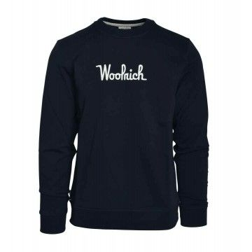 WOOLRICH - Herren Sweatshirt - Crew Essential - Melton Blue