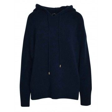 ZOE ONA - Damen Sweater - Kapuzen Sweater - Navy