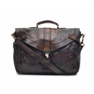 CAMPOMAGGI - Herren Aktentasche - Vintage Briefcase - Grey