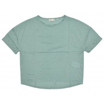 RICH & ROYAL - Damen T-Shirt - Lurex Shirt - Jade