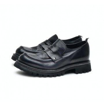 MOMA - Damen Schuhe - Mocassini Donna Cusna - Blu Navy