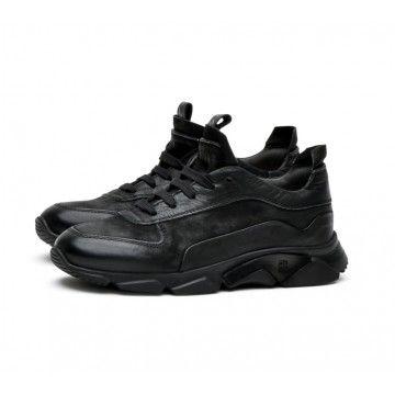 MOMA - Damen Sneaker - Allacciata Donna Bandolero - Nero