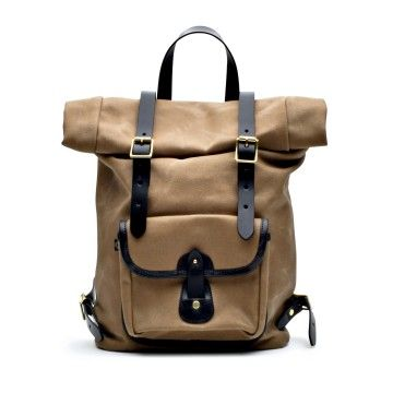 CROOTS ENGLAND - Rucksack - Vintage Canvas Roll Top Backpack - Sand