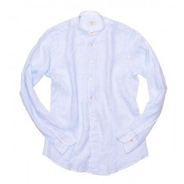 DU4 - Herren Hemd- Vito SF SP - Blue Stripe Linen