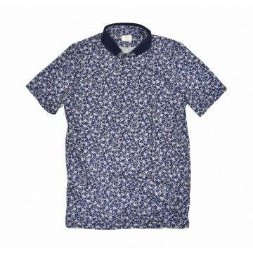 DU4 - Herren Polo Shirt - Piet - Flower Blue