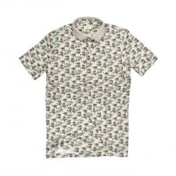 DU4 - Herren Polo Shirt - Piet - Jungle Offwhite