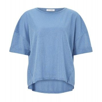RICH & ROYAL - Damen T-Shirt - Lurix Spring Blue