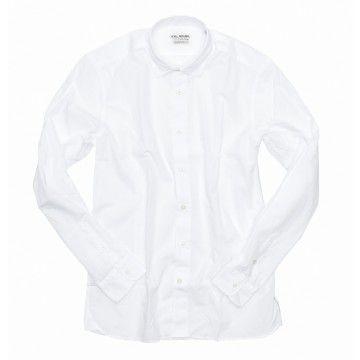 FIL NOIR - Herren Hemd - Bergamo Shaped Fit - White