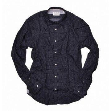 FIL NOIR - Herren Hemd - Roma HBD - shaped fit - black