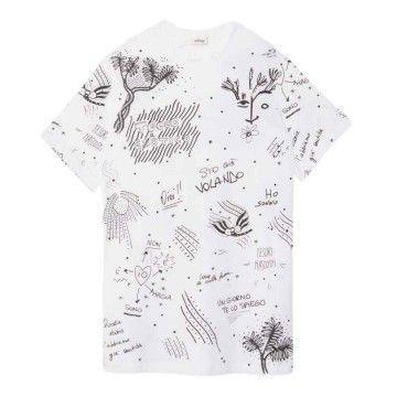 OTTOD´AME - Damen T-Shirt - Maglia Shirt - Bianco