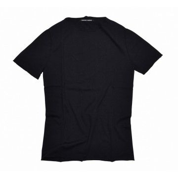 HANNES ROETHER - Herren Strick T-Shirt Funes - Black