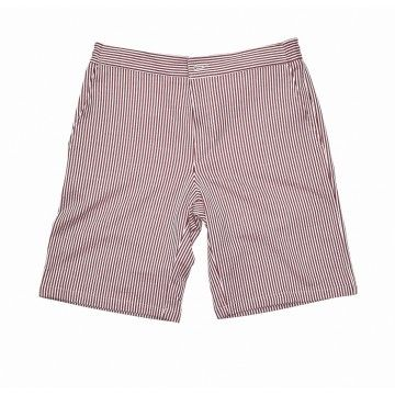 HARRIS WHARF LONDON - Herren Short - Men Drawstring Shorts Seersucker - Brick