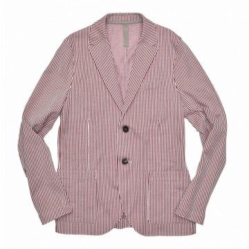 HARRIS WHARF LONDON - Herren Sakko - Men 2b Blazer Seersucker - Brick