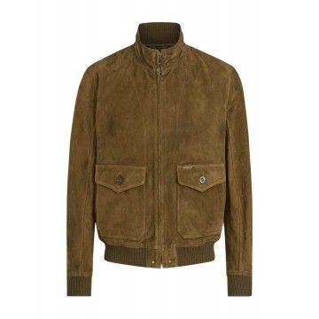 BELSTAFF - Herren Lederjacke - Hughes Jacket - Windsor Moss