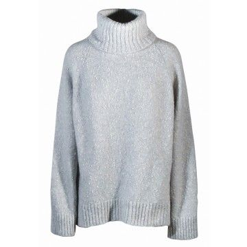 IHEART - Rollkragen Pullover - Cosima - Ise Grey Melangé