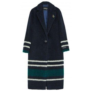 OTTOD´AME - Damen Mantel - Giacca Jacket - Navy with stripes