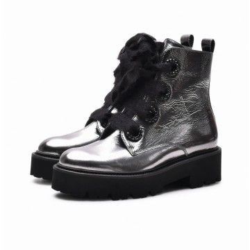 KENNEL & SCHMENGER - Damen Boot Bobby Patent - Antracite Metallic