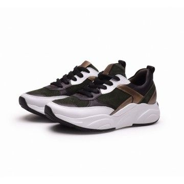 KENNEL & SCHMENGER - Damen Sneaker - Calf - bi/moos/gold -