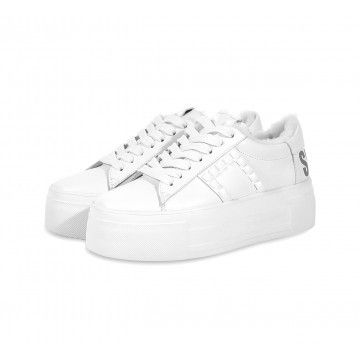 KENNEL & SCHMENGER - Damen Sneaker - Top 'Snow Star' Lammfell - White/Silver