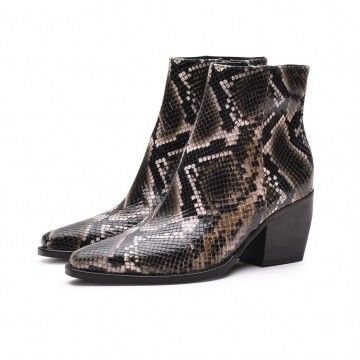 KENNEL & SCHMENGER - Damen Stiefelette - Luna - Diamond Boa Green