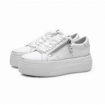 KENNEL & SCHMENGER - Damen Sneaker - Calf - Bianco Swei-Silv