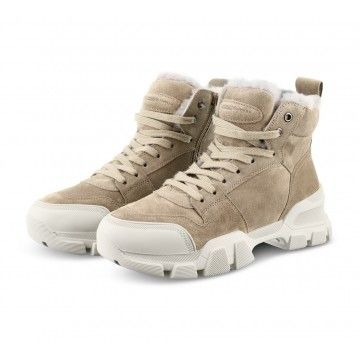 KENNEL & SCHMENGER - Damen SneakerBoot - Ace Lammfell - Taupe