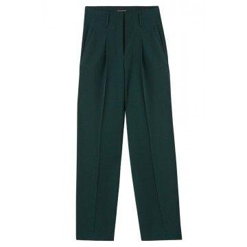 LUISA CERANO - Damen Hose - Gabardine WidelegPants - Emerald Green