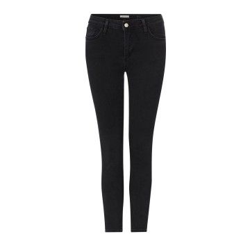 RICH & ROYAL - Damen Jeans - Midi Jeans - Black