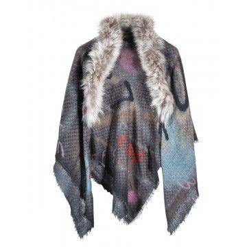 MALA ALISHA - Dreieckstuch - Pandero Fur - Brown