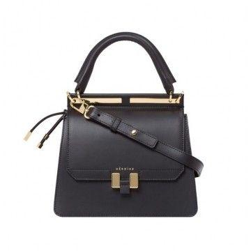 MAISON HÉROÏNE - Damen Tasche - Marlene Tablet Mini - Black Lavagna